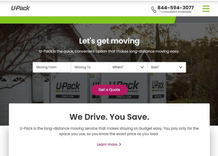 U-Pack—Best Moving Companies